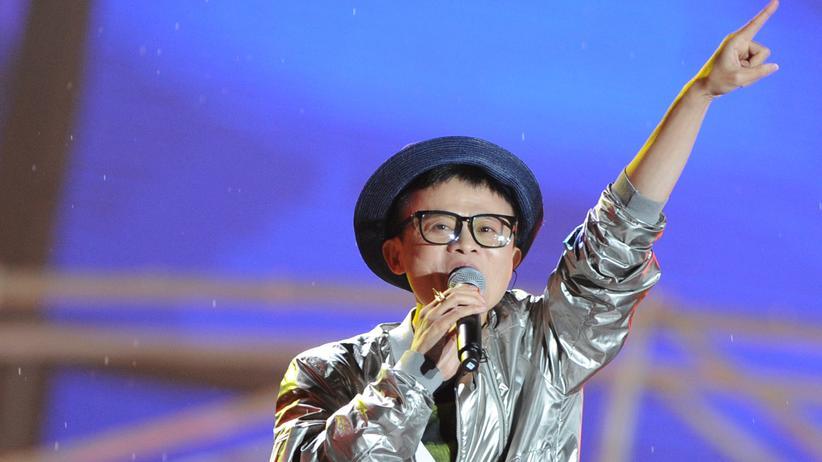 Alibaba-Gründer Jack Ma feiert im Mai 2013 das zehnjährige Firmenjubiläum seiner Online-Plattform Taobao.