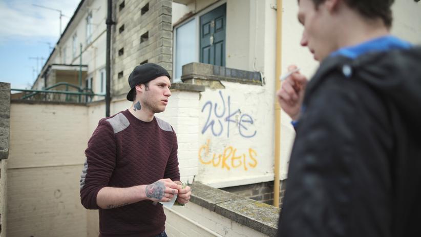 Arbeitslose Jugendliche in Corby, England