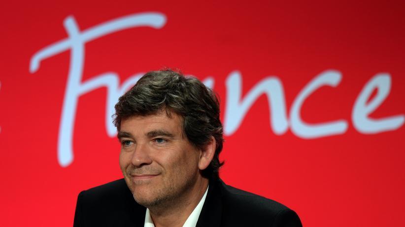 Arnaud Montebourg: Arnaud Montebourg auf einem Plenum des jährlichen Sommerkongresses der französischen Sozialisten in La Rochelle, nach seinem Rücktritt als Wirtschaftsminister