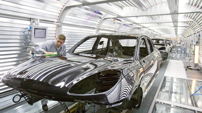 Produktion von Porsche in Leipzig