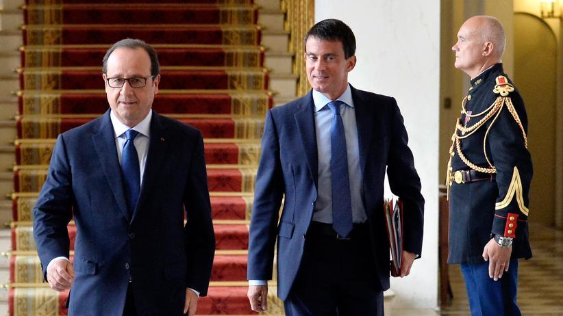 Haushalt: Frankreichs Präsident François Hollande (links) neben Premierminister Manuel Valls