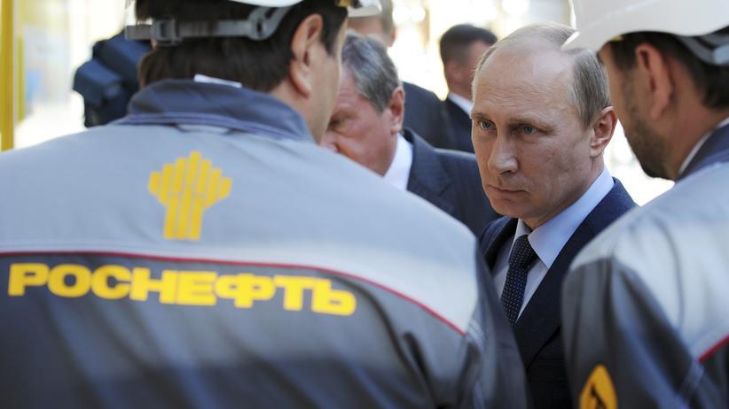 China: Russlands Präsident Wladimir Putin zu Besuch beim Staatskonzern Rosneft (Archiv)