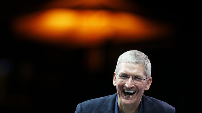 Apple-Chef Tim Cook bei einer Technologiekonferenz im Oktober in Kalifornien