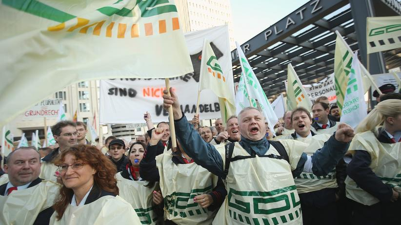 GDL Bahnstreik Deutsche Bahn Tarifvertrag