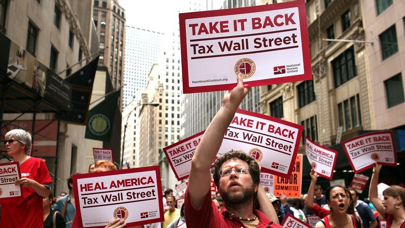 TTIP: Im Jahr 2011 protestieren in New York US-Bürger gegen die zunehmende soziale Ungleichheit in den USA