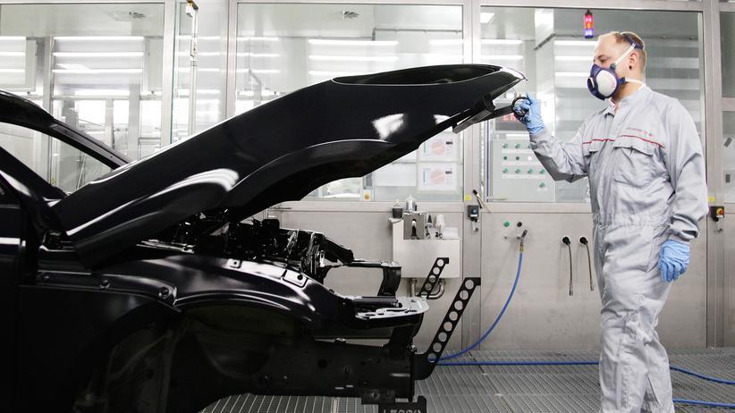 Wirtschaftswachstum: Im Porsche-Werk in Leipzig (Archivbild)