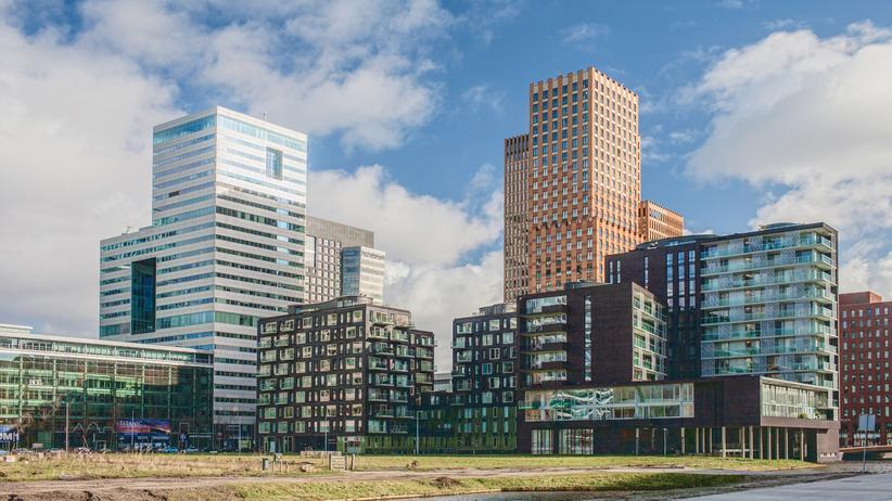 Niederlande: Der Finanzdistrikt in Amsterdam