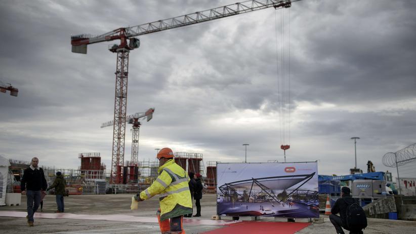 Eröffnung des neuen Regionalflughafens Saint Exupery in Lyon/Frankreich, Dezember 2014