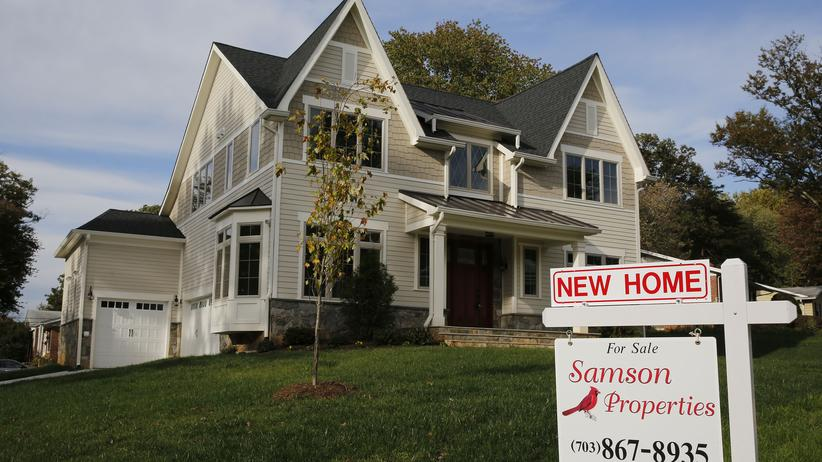 Ein Haus in den USA steht zum Verkauf