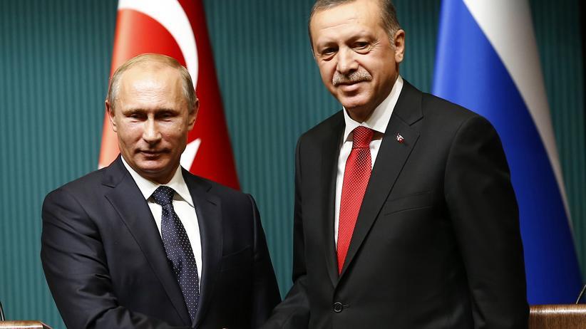 South Stream: Russlands Präsident Wladimir Putin (l.) und sein türkischer Amtskollege Erdoğan am Montag in Ankara.