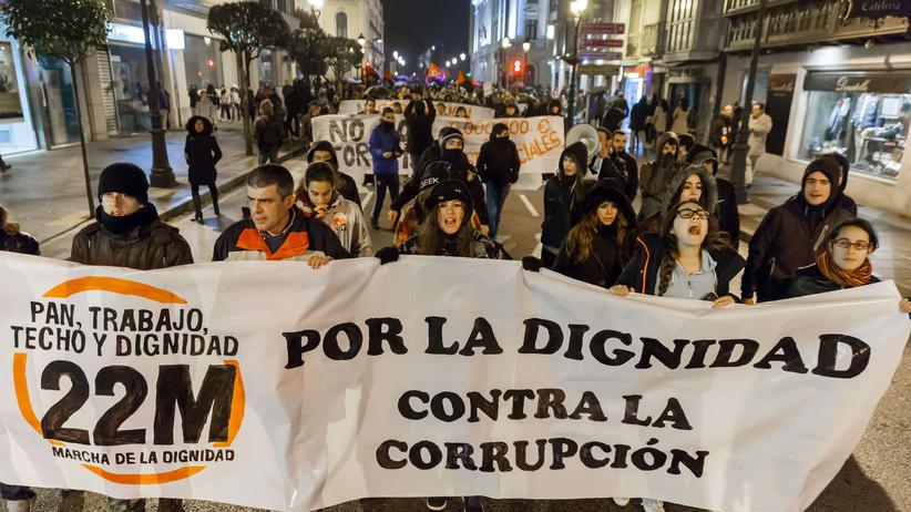 Spanien Korruption Proteste
