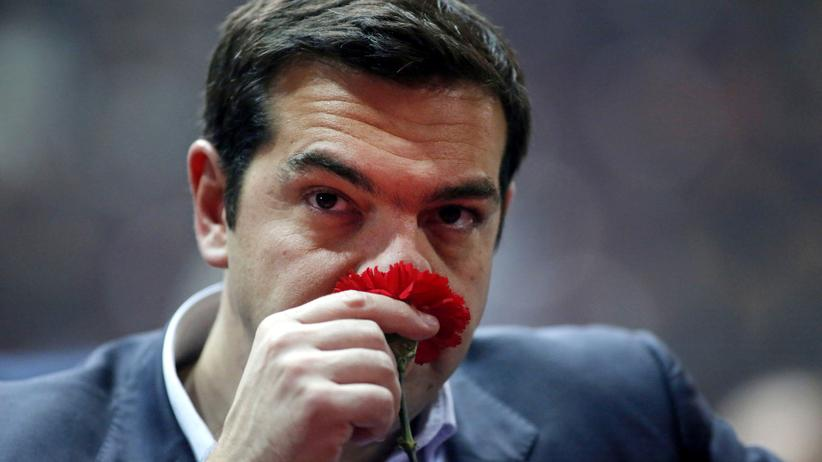 Griechenland: Alexis Tsipras, der Chef von Syriza, während einer Parteiveranstaltung in Athen (Bild vom 3. Januar)