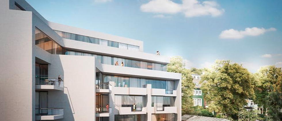 Das geplante Mehrfamilienhaus im Mittelweg in Hamburg