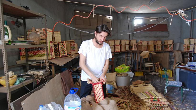 Nuno Henriques im Lager seiner Korbhandlung in Castanheira