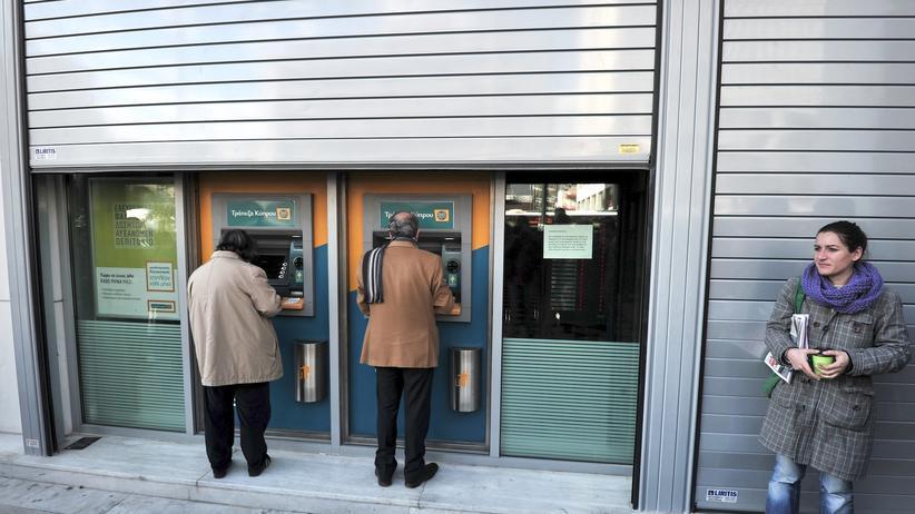 Griechenland Geldautomat Geld Konto