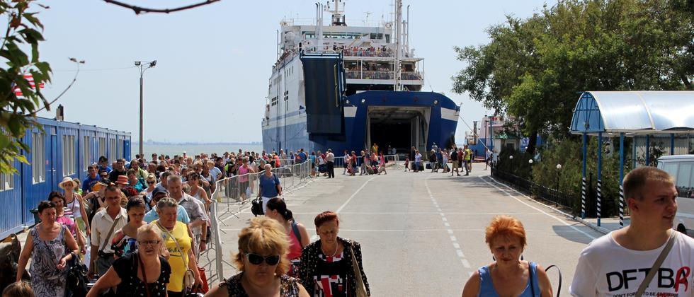 Krim: Ankunft von russischen Touristen