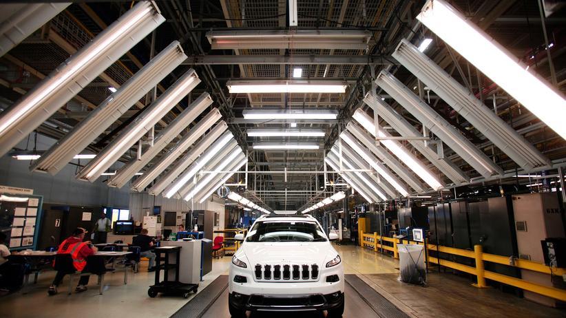 Entschädigung: Ein Chrysler-Jeep bei der Fertigung in einer Fabrik im US-Bundesstaat Ohio