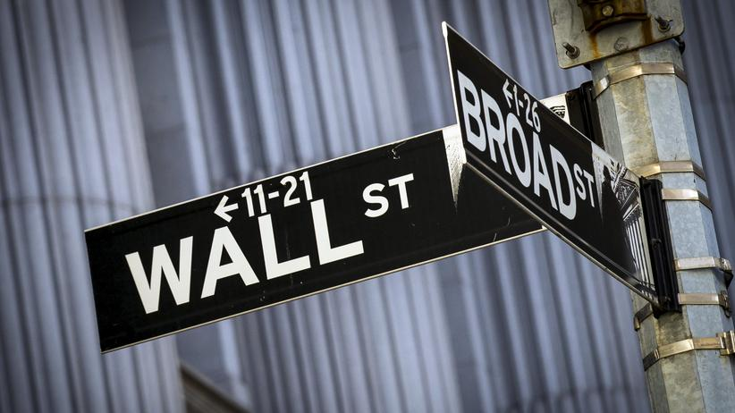 Die Wall Street in New York