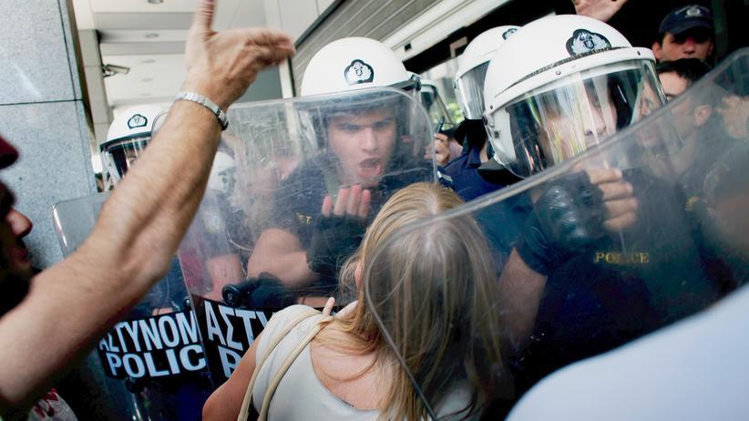 Massenproteste in Griechenland 2011