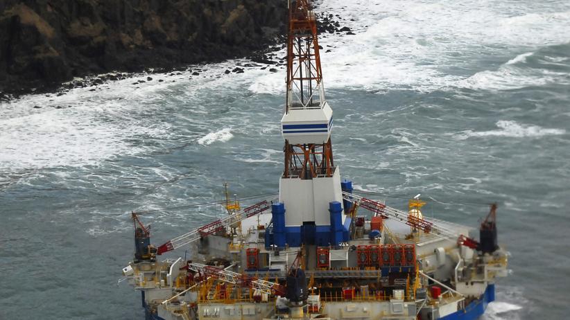 Shell: Die im Jahr 2012 in der Arktis havarierte Shell-Förderplattform Kulluk