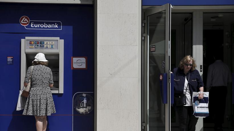 Schuldenkrise: Geldautomat in Athen, Griechenland