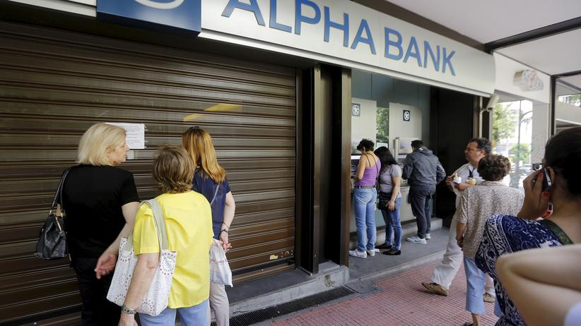 Schuldenkrise: Bankfiliale in Athen