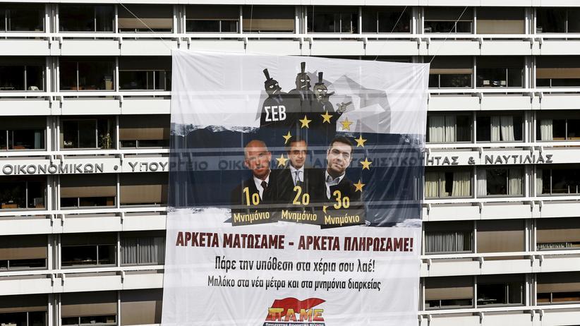 Griechenland Finanzministerium Athen Sparpolitik