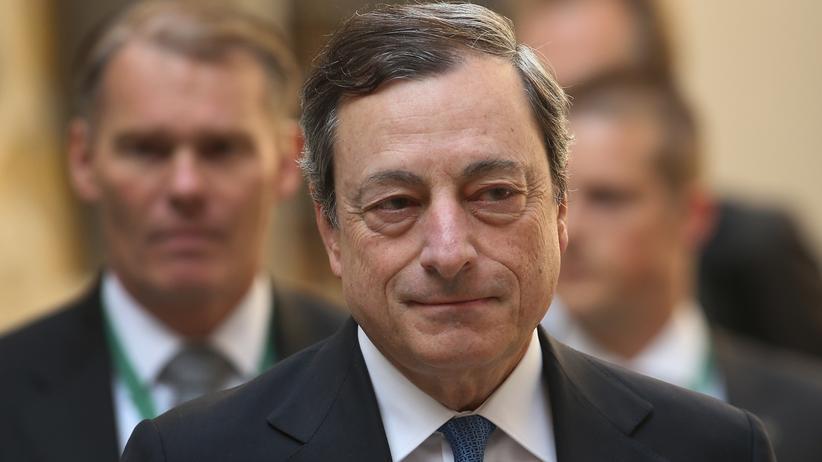 Geldpolitik: EZB-Präsident Mario Draghi auf dem Treffen der G-7-Finanzminister am 28. Mai in Dresden