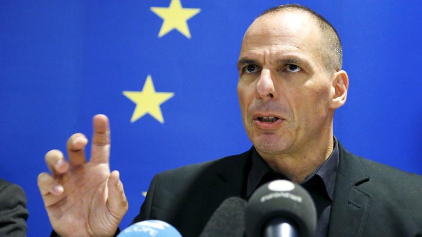 Griechenland: Griechenlands Finanzminister Yanis Varoufakis beim Euro-Finanzministertreffen in Luxemburg