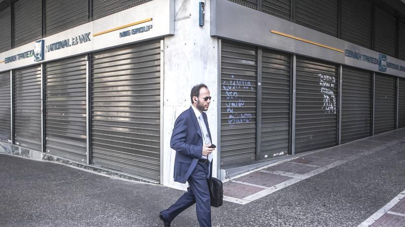 Griechenland: Eine geschlossene Bank in Athen