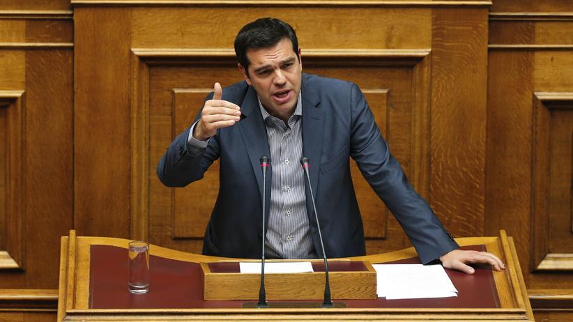 Griechenland aktuell: Der griechische Ministerpräsident Alexis Tsipras wirbt im Parlament eindringlich um Zustimmung für die Reformvorschläge.
