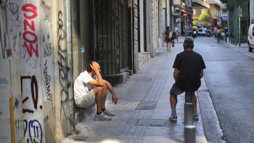 Griechenland: Athen am 13. Juli 2015, am Tag der Einigung zu Verhandlungen über ein neues Reformpaket