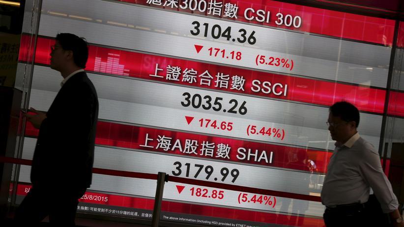 Börse: Die chinesischen Börsenkurse rutschen weiter ab