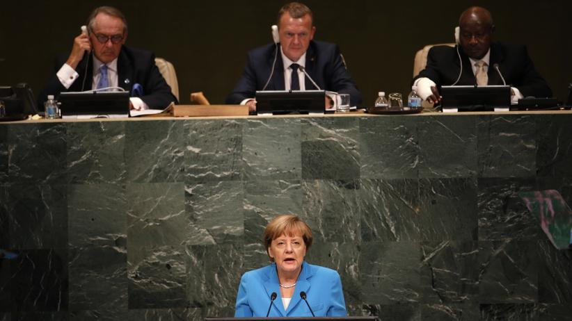 Wirtschaft, UN-Nachhaltigkeitsgipfel, Vereinte Nationen, Angela Merkel, Entwicklungshilfe, Flüchtling, Entwicklungspolitik, Bundeskanzler