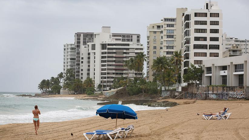 Der Strand von Puerto Ricos Hauptstadt San Juan