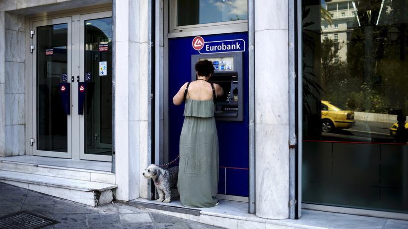 Schuldenkrise: Geldautomat in Athen
