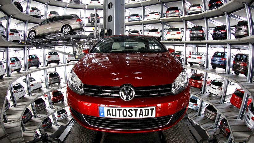 Der Autoturm in Wolfsburg