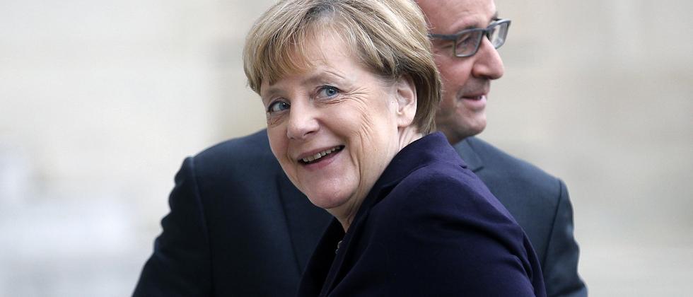 Angela Merkel und Frankreichs Präsident François Hollande