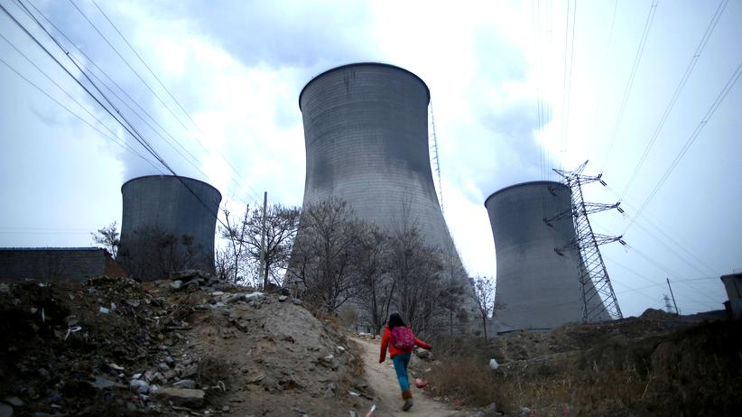Energie: Ein Kohlekraftwerk in Shijiazhuang in der chinesischen Provinz Hebei