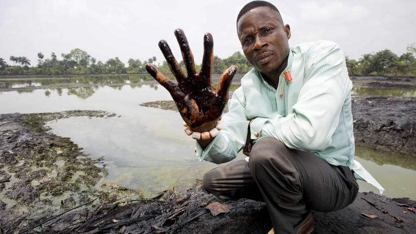 Nigerdelta: Nach wie vor sind große Teile des Nigerdeltas von Erdöl verseucht.