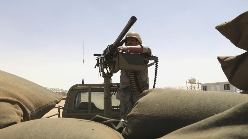 Soldat Grenze Irak Saudi-Arabien