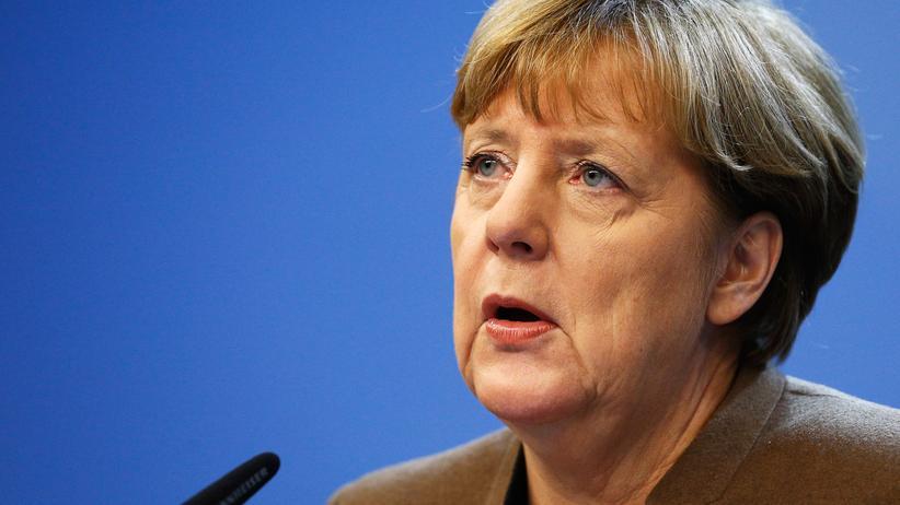 """Sprache: Sagte sie da auch """"Wir schaffen das""""? Bundeskanzlerin Angela Merkel spricht am 18. Dezember mit Journalisten. Unmittelbar davor war ein EU-Gipfeltreffen zur Flüchtlingskrise zu Ende gegangen."""