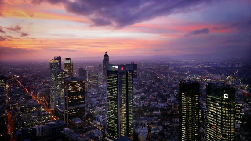 Wirtschaftskrise: Das Bankenviertel in Frankfurt am Main