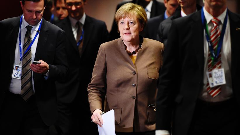 Flüchtlingskrise: Bundeskanzlerin Angela Merkel in Brüssel