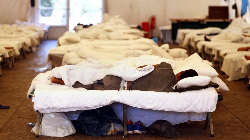 Flüchtlingskrise: Ein Erstaufnahmelager in Giessen (Hessen)