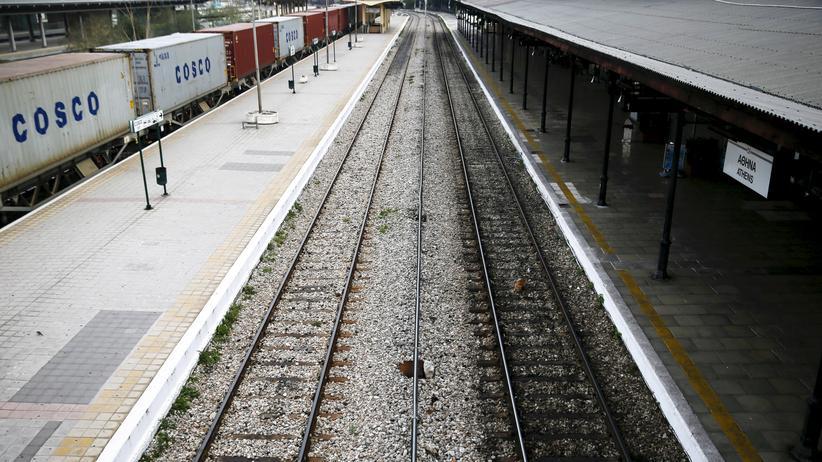 Rentenreform: Athens Hauptbahnhof: Auch der Bahnverkehr ist von dem Streik betroffen.
