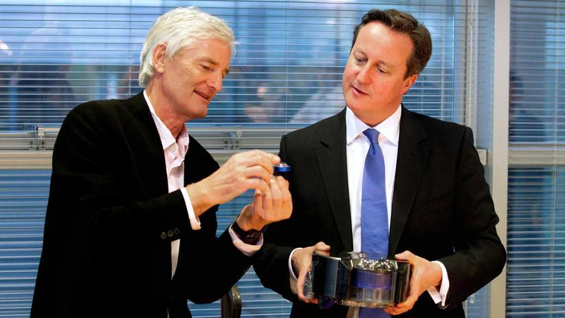 Brexit: Der britische Unternehmer James Dyson und Premierminister David Cameron (v.l.)