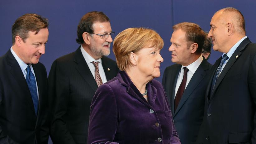 EU: Auf einem Treffen des EU-Rats in Brüssel im vergangenen Dezember: David Cameron, Mariano Rajoy, Angela Merkel, Donald Tusk und Boyko Borisov