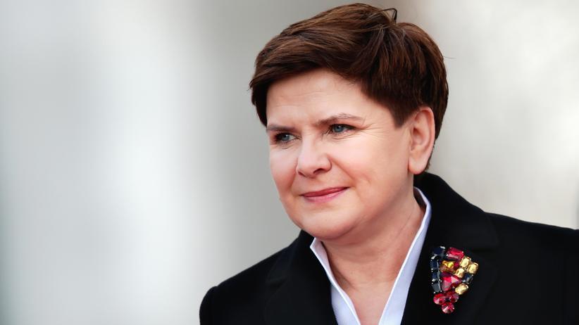 Polen: Die polnische Premierministerin Beata Szydło während ihres ersten offiziellen Besuchs in Berlin am 12. Februar 2016.