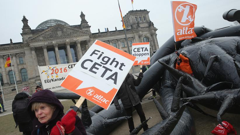 CETA: Anti-TTIP-Protest im Januar 2016 in Berlin
